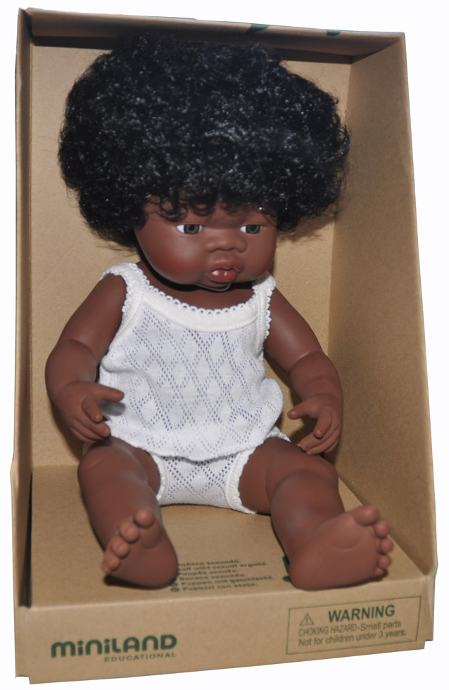 African Baby Girl - Anatomically Correct MULTICULTURAL Ethnic Doll
