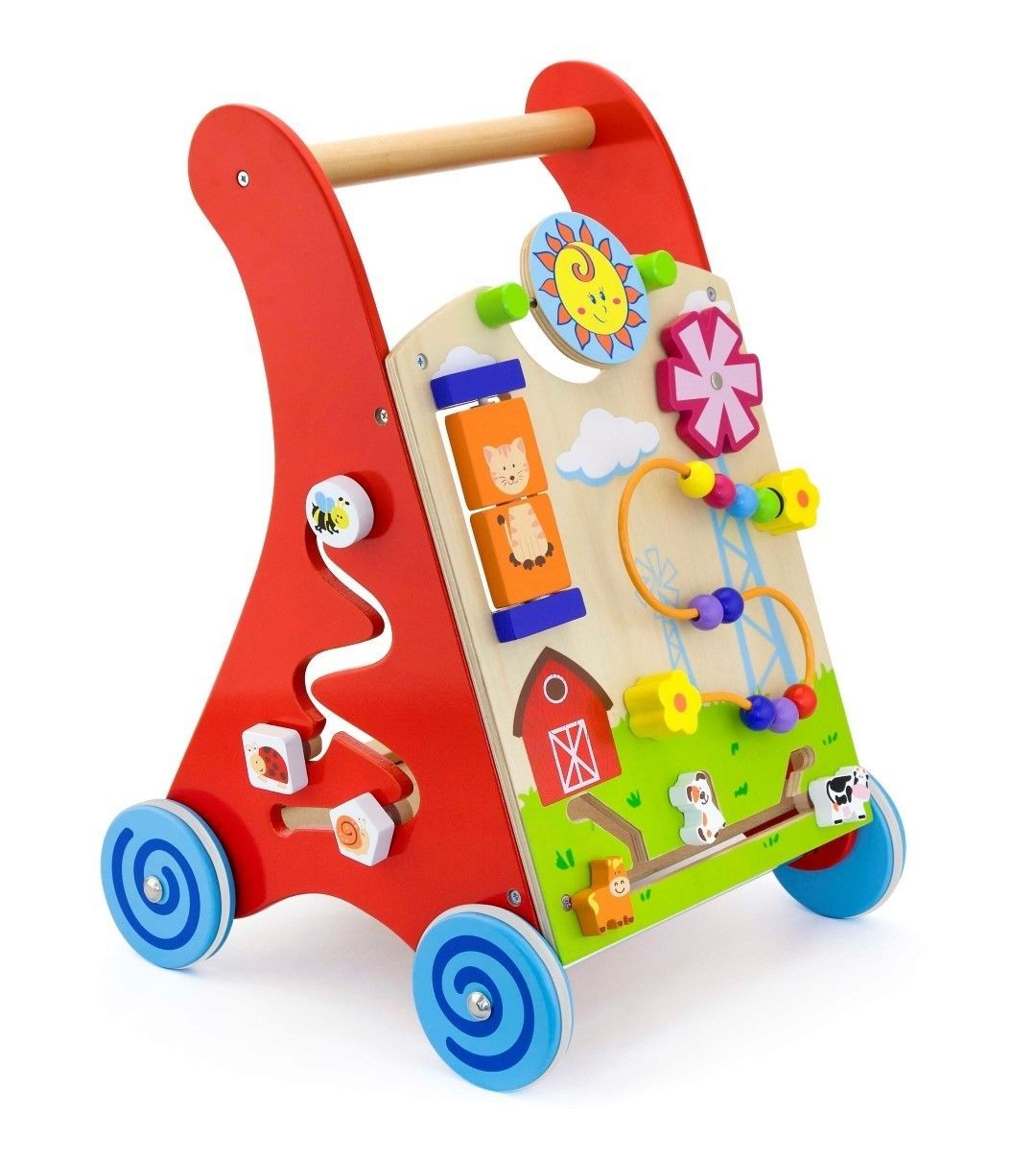 baby activity first walker wooden educational toy