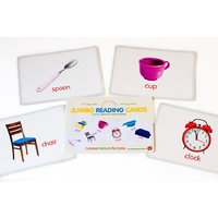"""My First Academy"" JUMBO Reading Cards - Common Items in the Home FLASHCARDS"