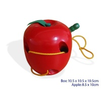 LACING Apple - THREADING Educational WOODEN Toy for FINE MOTOR Skills