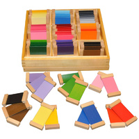 MONTESSORI COLOUR TABLETS in WOODEN BOX - SET 3