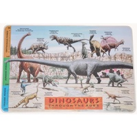 DINOSAURS - THROUGH THE AGES Educational Early Learning Preschool Placemat