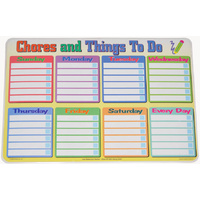 """CHORES & THINGS TO DO"" Daily ORGANISER Educational Placemat CALENDAR"