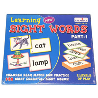 LEARNING to READ - 140 SIGHT WORDS Picture and Word Cards Educational LITERACY Game
