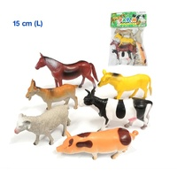 PRETEND Play FARM ANIMALS PRESCHOOL Toy SET Figurines - 6PCS