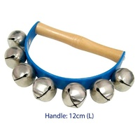Hand-held BELLS with WOODEN HANDLE - CHILDREN'S MUSICAL TOY