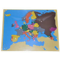 MONTESSORI WOODEN Puzzle MAP of the EUROPE - GEOGRAPHY Homeschool