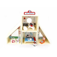 PET VET Veterinary Animal HOSPITAL Wooden Kids PLAYSET Educational Preschool Pretend Play TOY