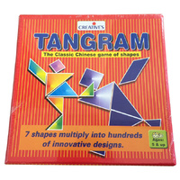 TANGRAM Classic Chinese EDUCATIONAL GAME of Shapes LOGIC Puzzle