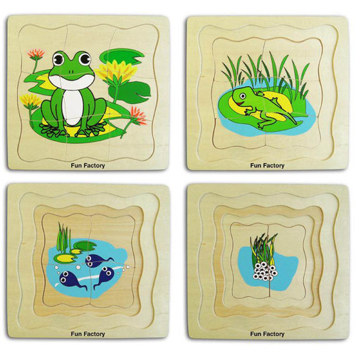 LAYERED FROG Wooden Early Learning EDUCATIONAL PRESCHOOL Puzzle - LIFE CYCLE