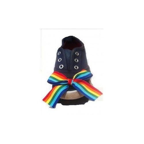 DANCING FEET Tap Shoes Attachments with Elastic - RAINBOW