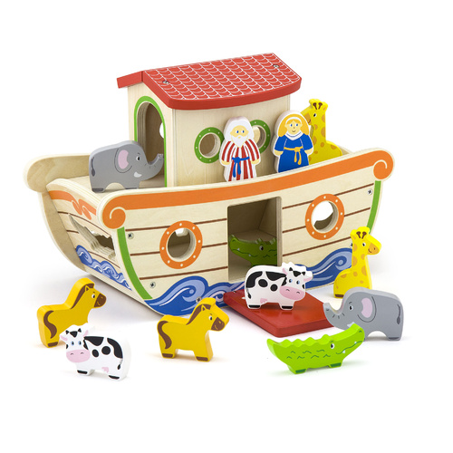 NOAH'S ARK SHAPE SORTER Game WOODEN Educational TOY Homeschool
