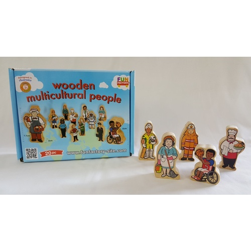 Multicultural People DIFFERENT ETHNICITIES & Occupations WOODEN Dolls Educational TOY